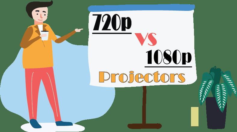 720p vs 1080p projectors